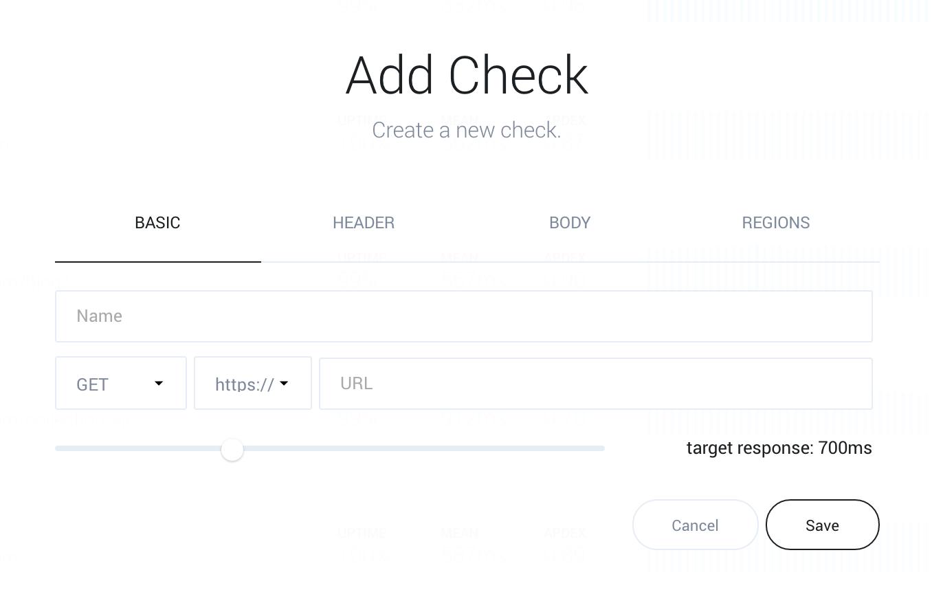 Monitor website creation form