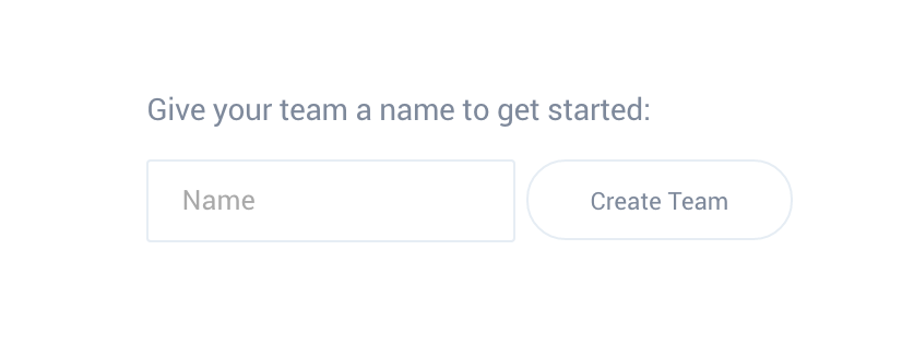 Team name input